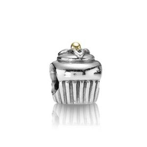 Pandora Two-Tone Cupcake Charm